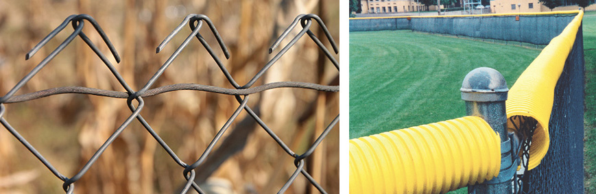 Poly Cap yellow fence topper